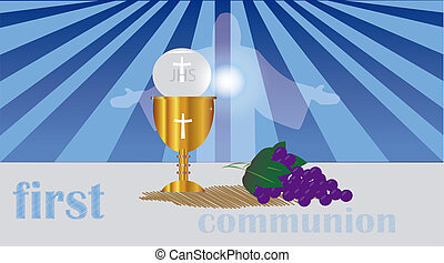 the sacrament of the Holy Eucharist - ceremony held in the...