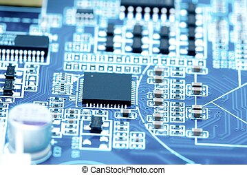 Electronics - Circuit board with lots of electronic...