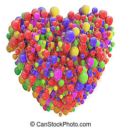 Heart from Balloons