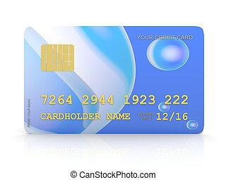 Credit Card - 3D rendered Interior Isolated on white