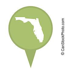 State of Florida map pin