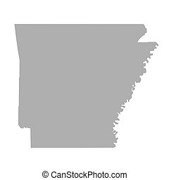 Arkansas State map isolated on a white background, U.S.A.