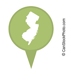 State of New Jersey map pin