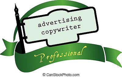 Banner advertising copywriter for the profession Vector...