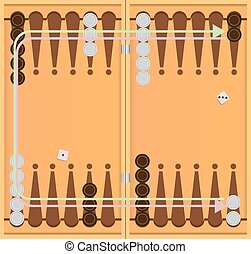 Direction of movement of chips backgammon - The direction of...