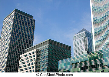 Canary Wharf in Docklands is the largest business...