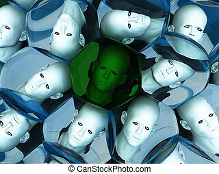Heads In Cells
