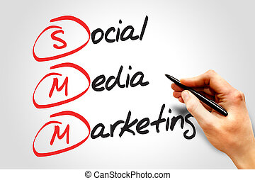 Social Media Marketing (SMM), business concept acronym