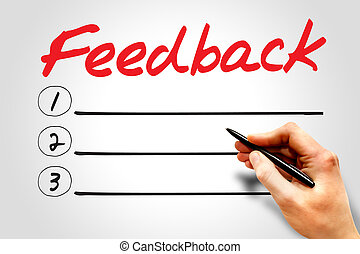 Feedback blank list, business concept