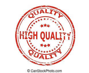 High quality - Stamp with text high quality inside, vector...