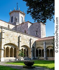 Santander Cathedral, arches and inside facade from the...
