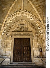 Santander Cathedral, main door to the Church - Santander...