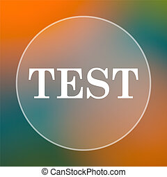 Test icon Internet button on colored background