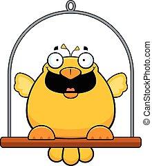 Cartoon Canary Happy - Cartoon illustration of a canary with...