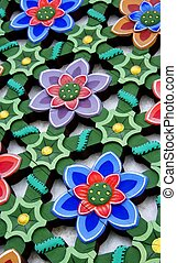 Flower Lattice Panel - A lattice panel with flowers from a...