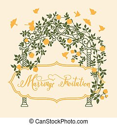 Marriage invitation card - Marriage invitation card with...