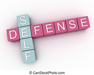 3d image Self Defense issues concept word cloud background