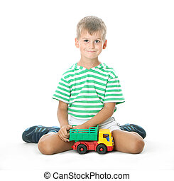Boy with a toy