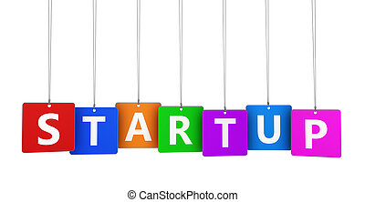 Startup Business Sign - New business concept with startup...