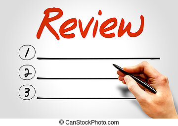 REVIEW blank list, business concept