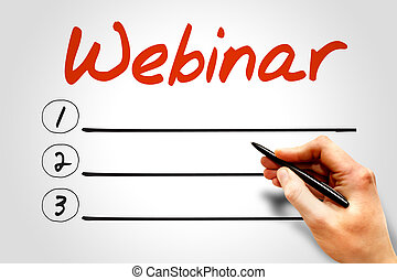 WEBINAR blank list, business concept