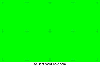 Green Screen with markers - Green Screen with position...
