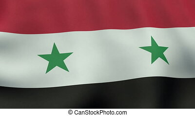 Loopable waving Syrian flag animation - Seamlessly loopable...