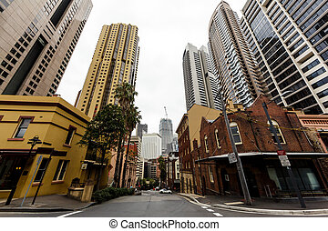 Sydney Australia downtown - Downtown Sydney taken at wide...