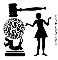 I sue You - Financial penalty in court when a woman is suing...