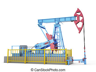 Oil pump on a white background 3d render image