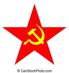Communist star - Communist Star illustration with hammer and...