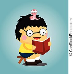 Bücherwurm clipart  Bücherwurm Illustrationen und Clip-Art. 647 Bücherwurm Lizenzfreie ...