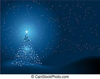 Christmas tree background - Sparkly Christmas tree on a...