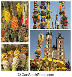 Palm Sunday traditions in Poland - collage