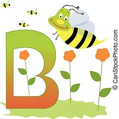 Animal Alphabet - Letter B - Illustration of alphabet letter...