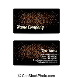 Business Card with Leather Background