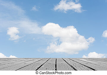 clouds on heaven above the ground - Scenic of clouds on...