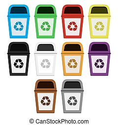 Bins of selective collection - Colored bins for selective...