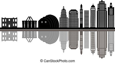 kansas city skyline - the kansas city skyline in america...