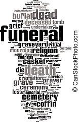 Funeral word cloud