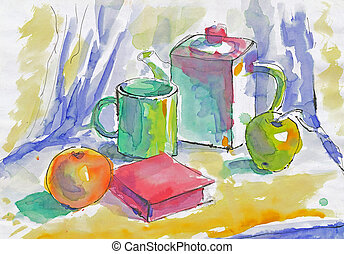 An hand painted picture - Still life - An hand painted...