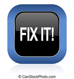fix it square glossy icon