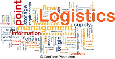 Logistics word cloud - Word cloud concept illustration of...