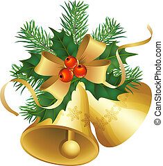 christmas bells - vector illustrations - christmas decor and...