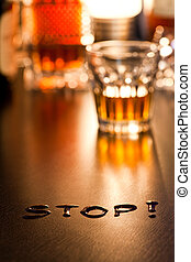The word Stop
