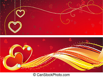 valentines banner - vector illustration - valentines day...