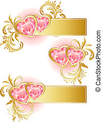 valentines day banner - Vector illustration - valentines day...