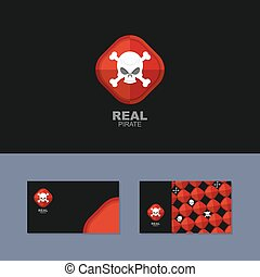 Logo Pirate, business card for real