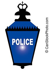 Police Station Blue Light - The blue light found outside of...