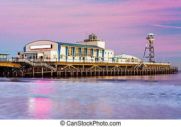 Bournemouth pier sunset - Bournemouth pier at Sunset from...